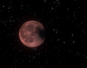3D Lunar eclipse