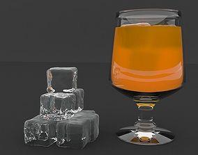 3D asset Orange Juice on ice