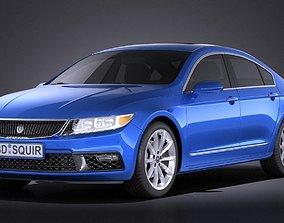 Generic Luxury Sedan 2016 VRAY 3D usa