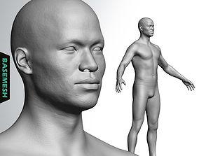 3D Average Asian Male Body Basemesh