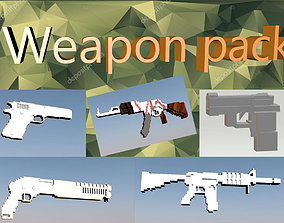 3D model VR / AR ready Weapon pack