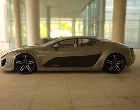 Affekta Shayleen Concept Sport Car and ExtraWheel 3D