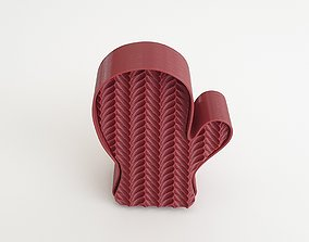 GLOVE COOKIE MOLD WITH KNITTING PATTERN 3D