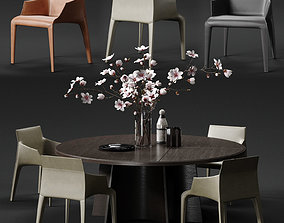 POLIFORM SEATTLE Armchair and KENSINGTON Table 3D model