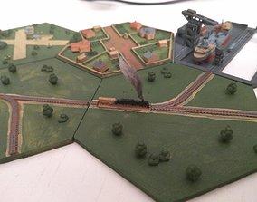 Hex railroad right and left 3D print model