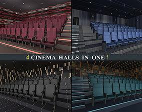 3D asset Cinema Halls Pack02