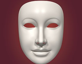 3D model Female Theater Mask with Neutral Expressions