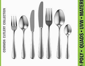 Common Cutlery Set 7 Pieces 3D model