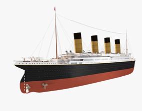 RMS Titanic ship 3D asset