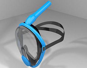 Scuba Diver Mask Type 5 3D model
