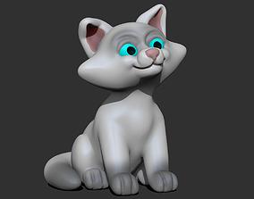 Cute Cat 3D printable model toy