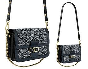 Louis Vuitton Dauphine Bag Black 1854 3D asset