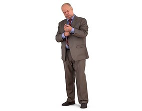 3D model realtime Standing Businessman