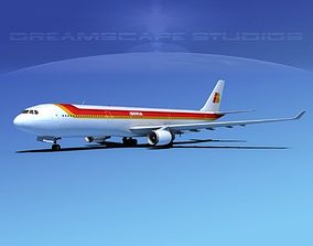 3D model Airbus A330-300 Iberia