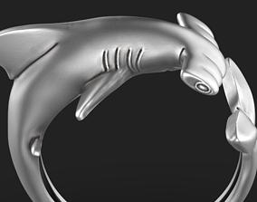Hammerhead shark ring 3D printable model