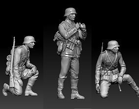 3D print model German officer and soldiers