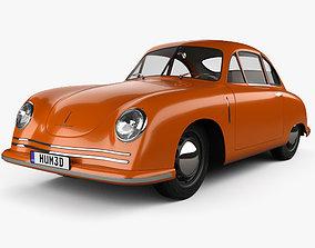 Porsche 356 coupe with HQ interior 1948 3D model