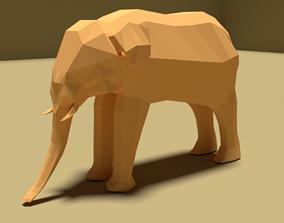 Elephant 3D model game-ready