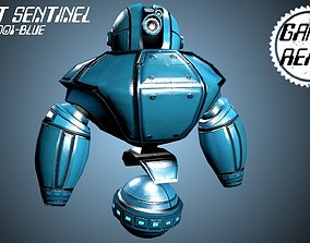 3D asset Robot Sentinel -- Game Ready Player or