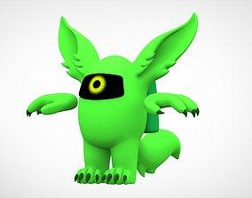 Among Us Lime Werewolf 3D asset