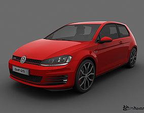 Volkswagen Golf GTI 3 doors 2014 3D
