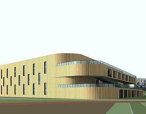 3D model exterior city School Building