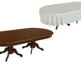 Wood table 2500 3D model