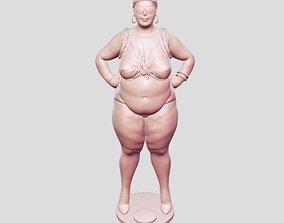 3D print model woman fat