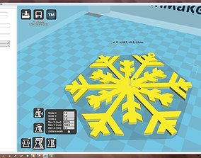 christma-ball 3D print model Snowflake