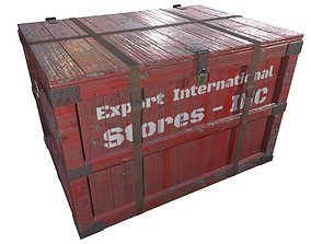 3D asset Cargo Crate Game Ready