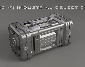 3D Sci-Fi Industrial Object 03
