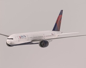 Boeing 777-200LR 3D model VR / AR ready
