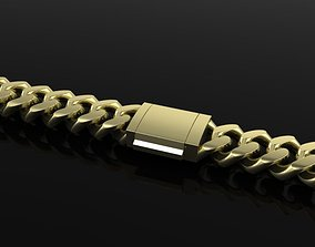 3D printable model Cuban Chain Bracelet Necklace 3