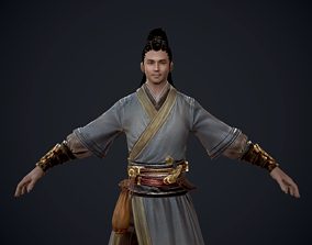 3D asset Ancient Chinese male swordman Ancient Chinese 1