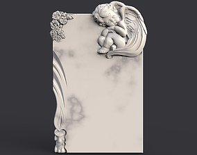 Baby angel tombstone 3D printable model