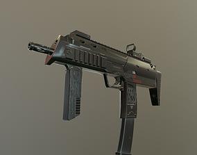 low-poly ASSAULT RIFLE HK MP7 WEAPON 3D MODEL