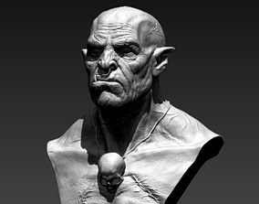 3D printable model Orc Bust