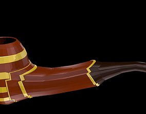 Low poly smoking pipe 3D model