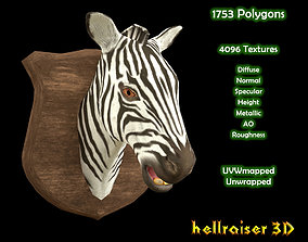 3D asset Zebra Head - PBR - Textured