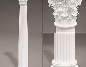 3D Historic Antique column