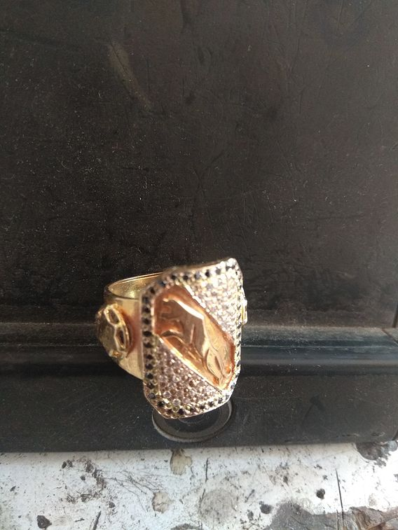 Leopard Gold Ring 4 Mens