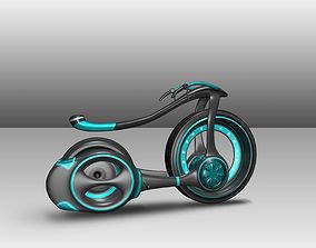 low-poly 3D Futuristic Bike