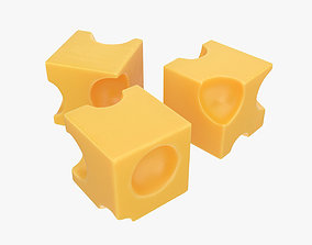 Cheese cubes 3D model
