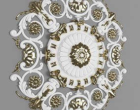 3D asset Gold inlaid plaster tray