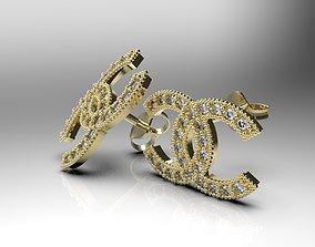 cc earrings diamonds 3D print model