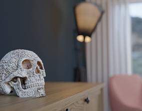 3D model Decorated Skull Dia De Los Muertos