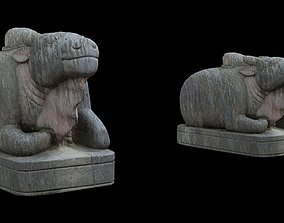 3D model Ox statue with 3 LOD - Nepal Heritage