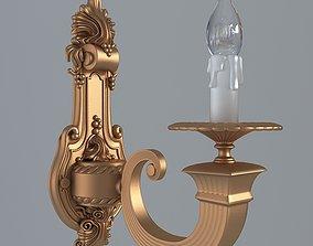 3D model Antiquarian graceful sconce