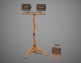 Halogen Lamp 3D asset