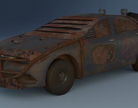 3D model Grunge postapocalypse car